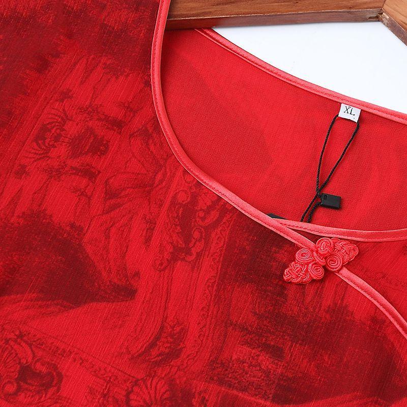 Đầm voan lụa cách tân in họa tiết 3D QIZ
