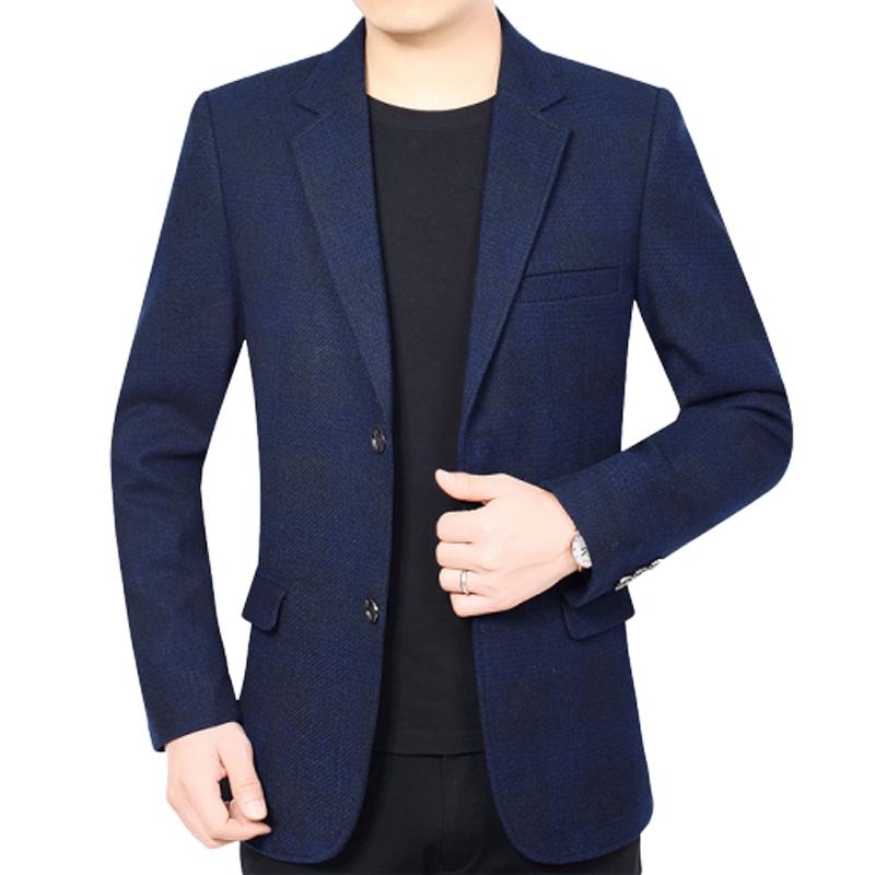 Áo khoác dạ nam cổ vest cao cấp kẻ caro thiết kế mới