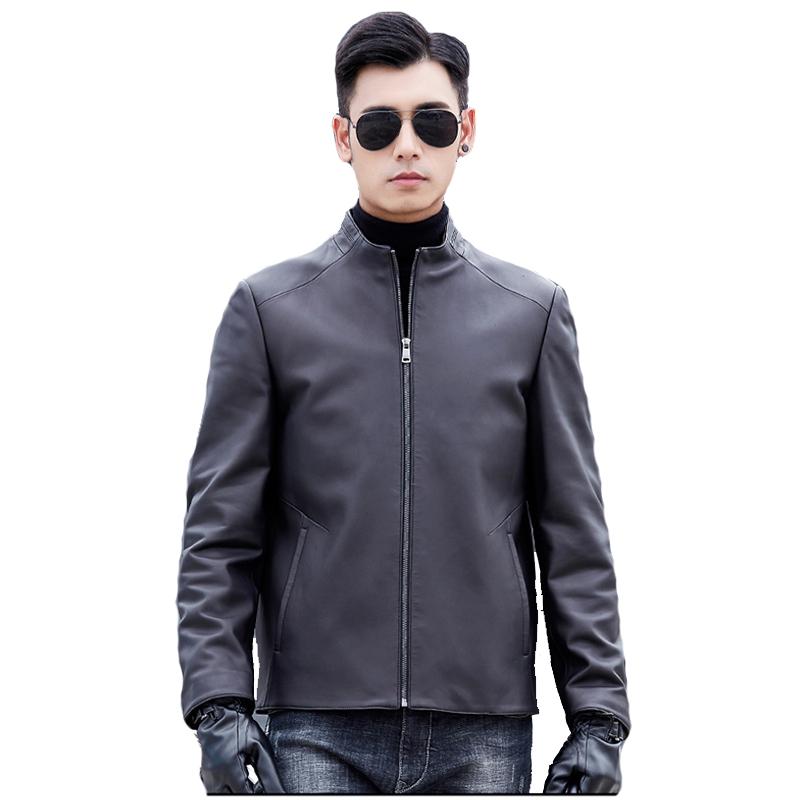 Áo Slim Jacket da cừu cổ trụ khóa kéo