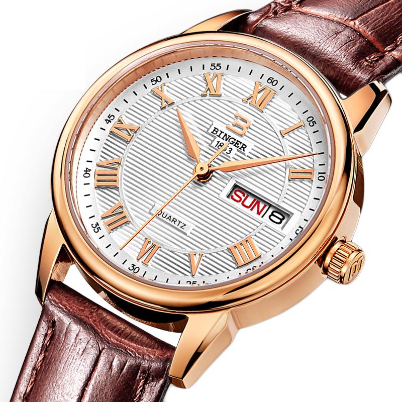 Đồng hồ nữ vân sọc số La Mã Binger