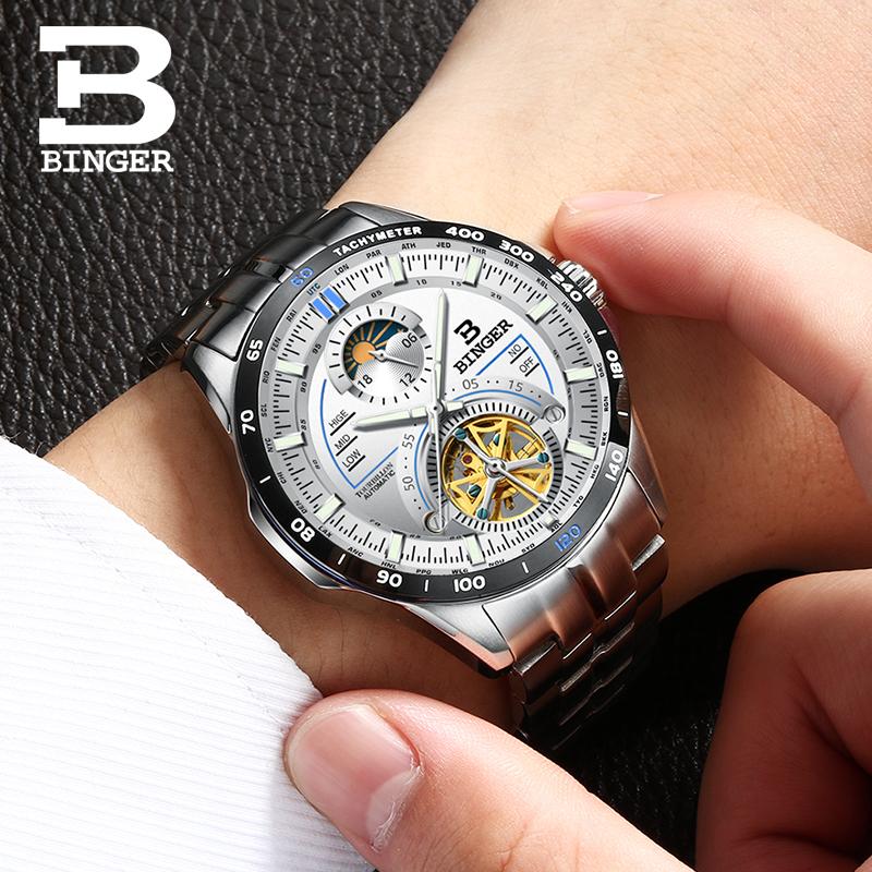 Đồng hồ cơ lộ máy Tachymeter Binger