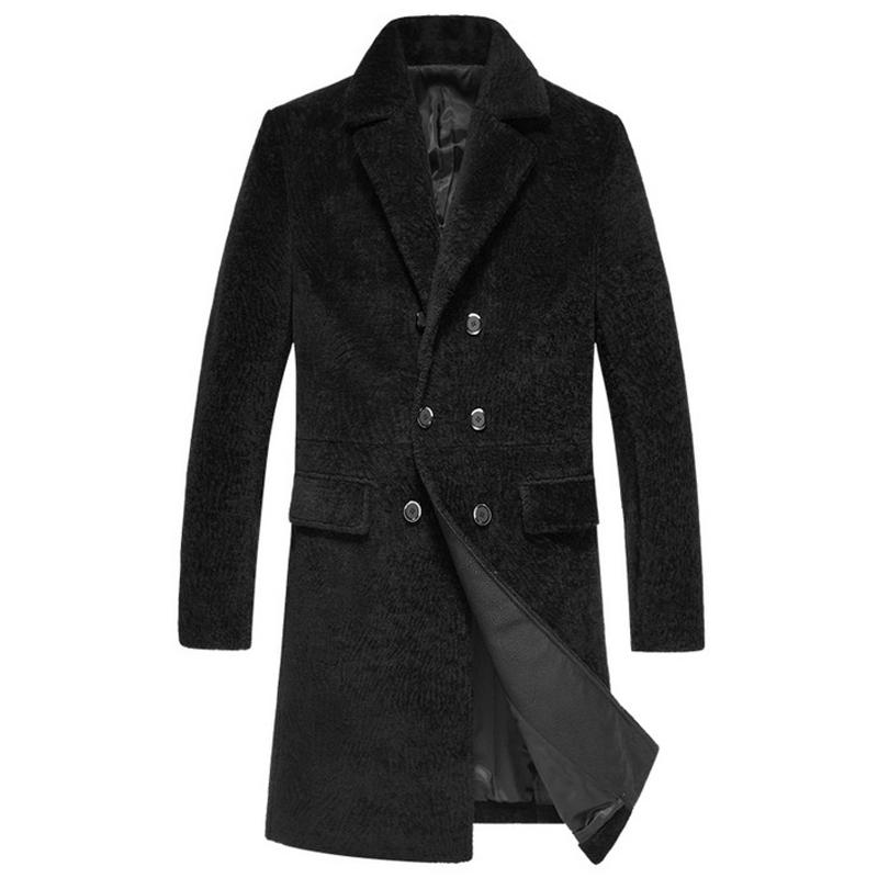 Áo khoác Peacoat dạ lông cừu hàng khuy đôi NNA