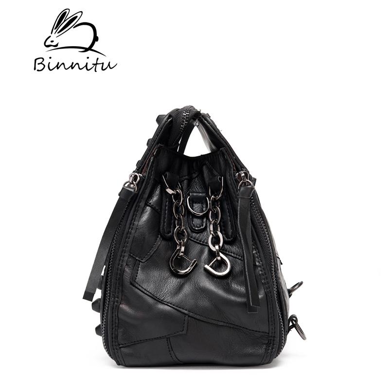 Túi nữ nạm đinh style Rock Chic Binnitu 8036