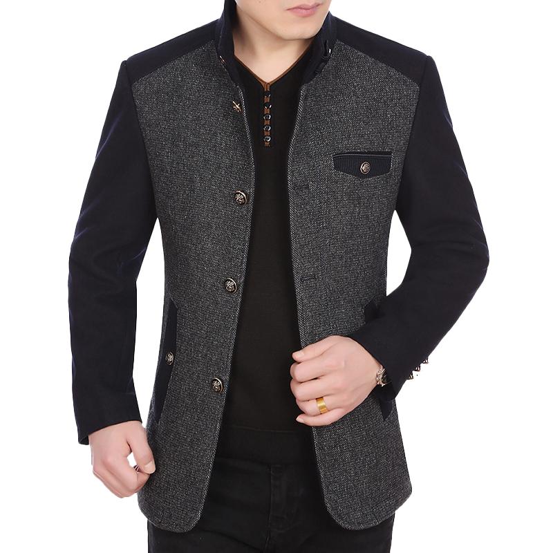 Áo khoác Blazer phối màu dạ lông cừu KSLPT