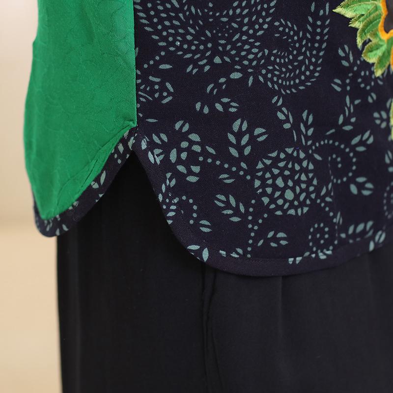 Bộ lửng nữ phối màu thêu hoa SMT