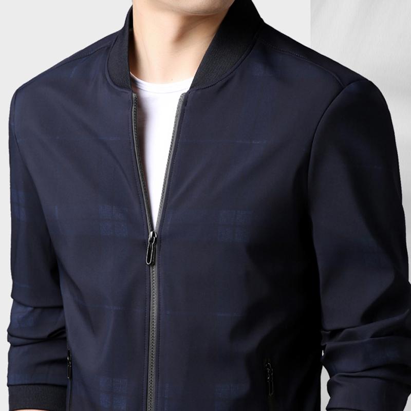 Áo Jacket Bomber cổ tròn trơn màu