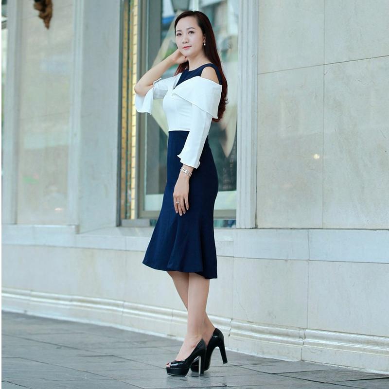 Đầm ôm vạt xòe phong cách châu Âu cổ điển