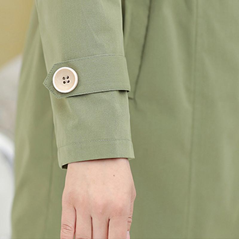Áo Trench coat nữ cổ bẻ bo chun