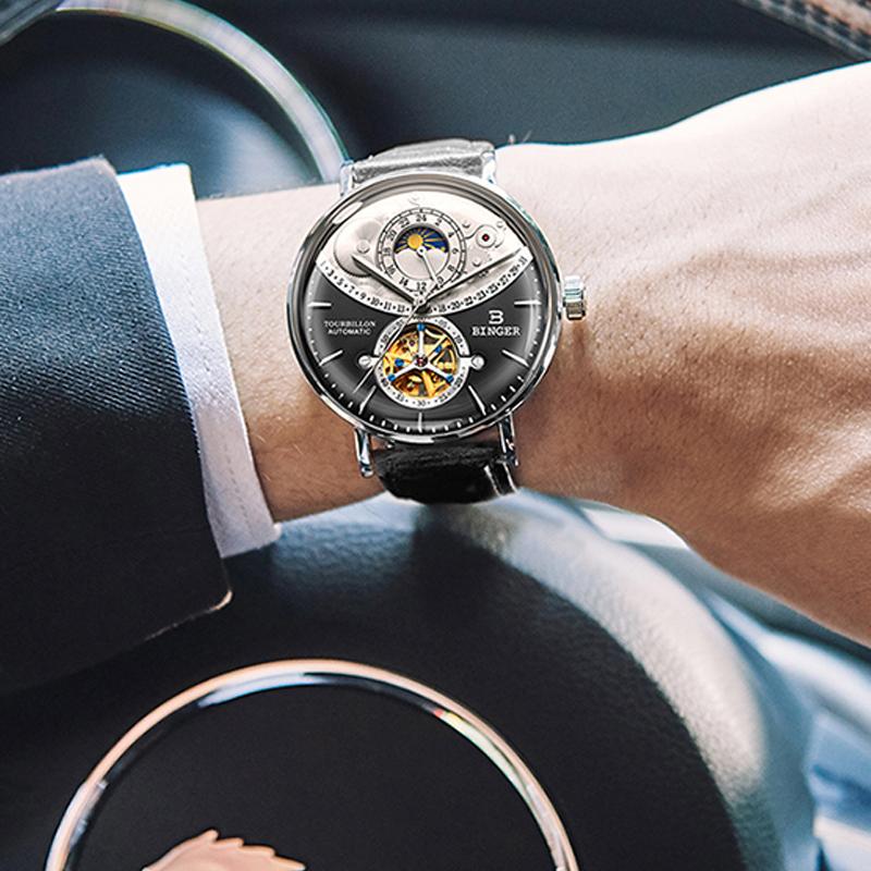 Đồng hồ Tourbillon bánh xe chạm rỗng Sun Face