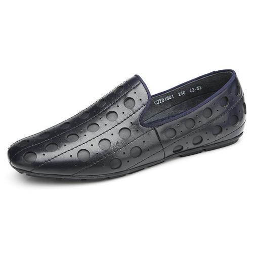 Giày lười nam chạm rỗng Olunpo CJFD1501