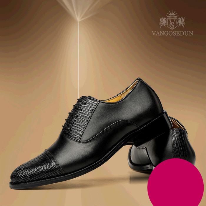Giày da nam VANGOSEDUN VG6008 mũi da rắn