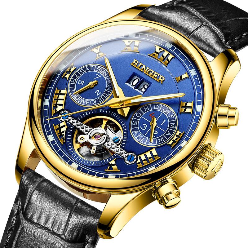 Đồng hồ cơ nam đa năng Aviator Watch Binger