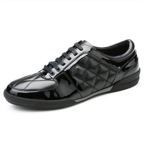 Giày da nam thời trang QHT1427 họa tiết hình học