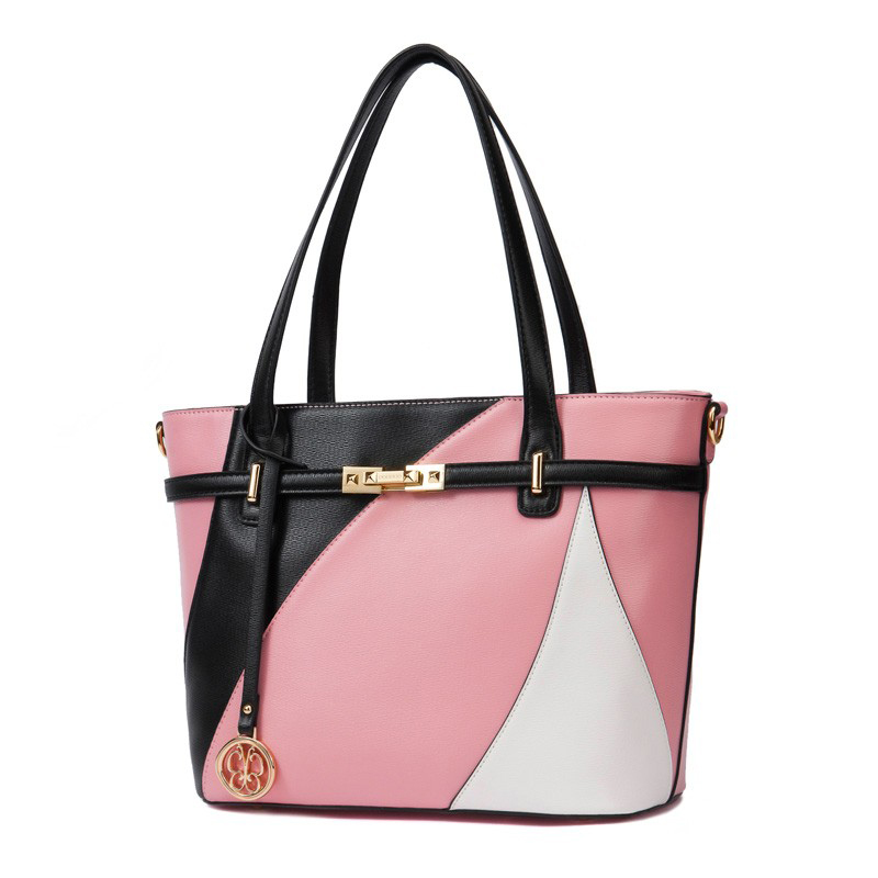 Túi tote đeo vai họa tiết hình học DooDoo