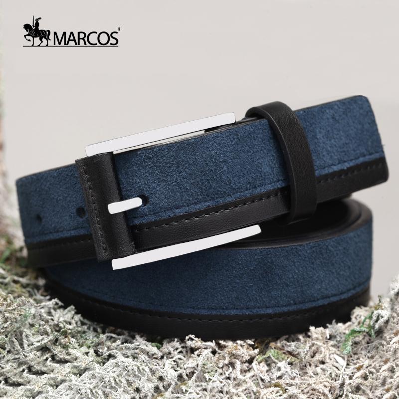 Dây lưng nam da thuộc viền da sần Marcos PX330M