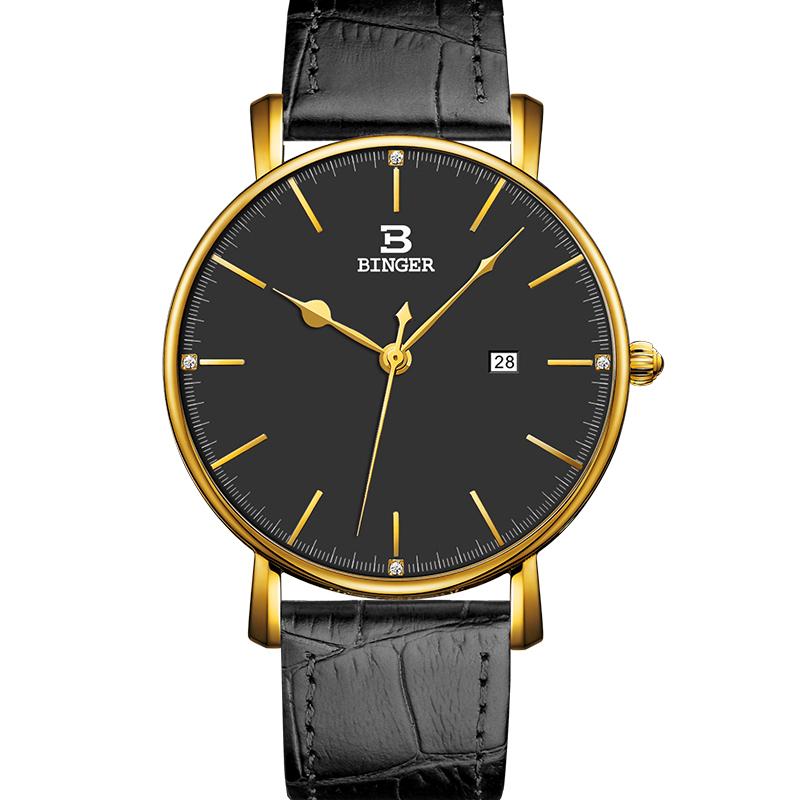 Đồng hồ nam Binger kim mảnh