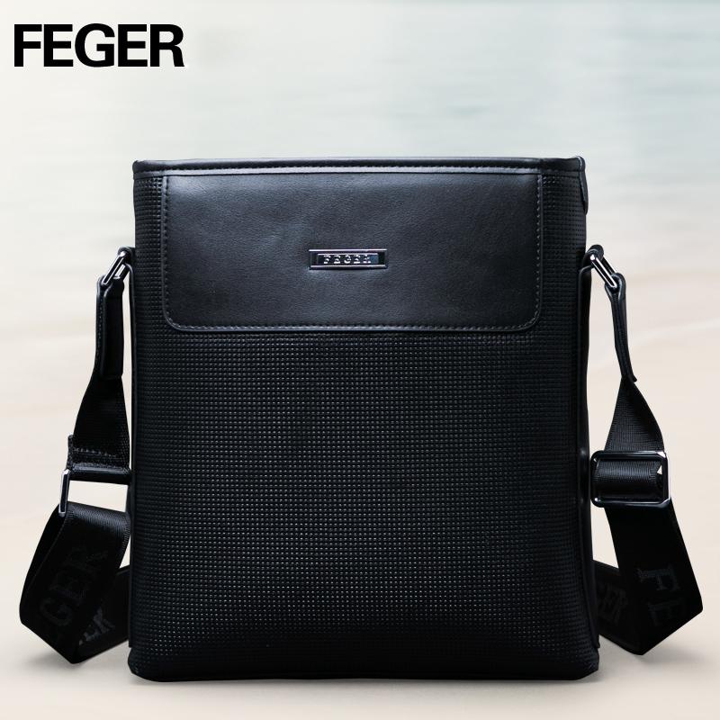 Túi da nam Feger 9808-1 dập lỗ tinh xảo
