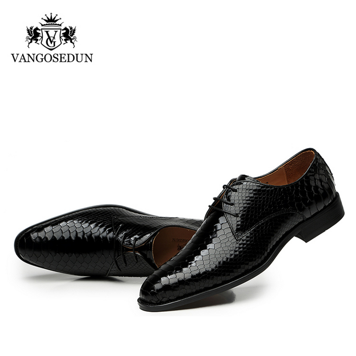 Giày da nam VANGOSEDUN Y1012 họa tiết da rắn
