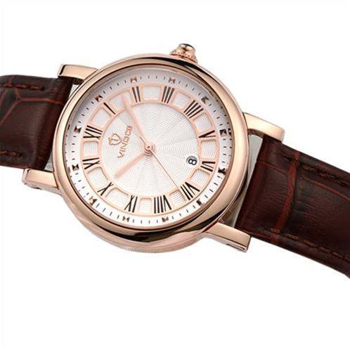 Đồng hồ nữ dây da Vinoce V3281L