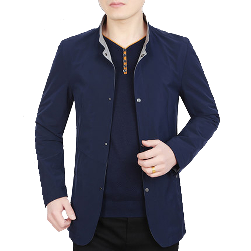 Áo Jacket nam cổ đứng khuy bấm