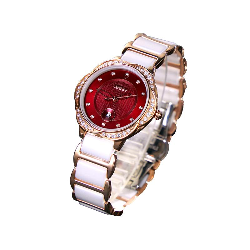Đồng hồ nữ Bestdon viền hoa hồng đính đá pha lê