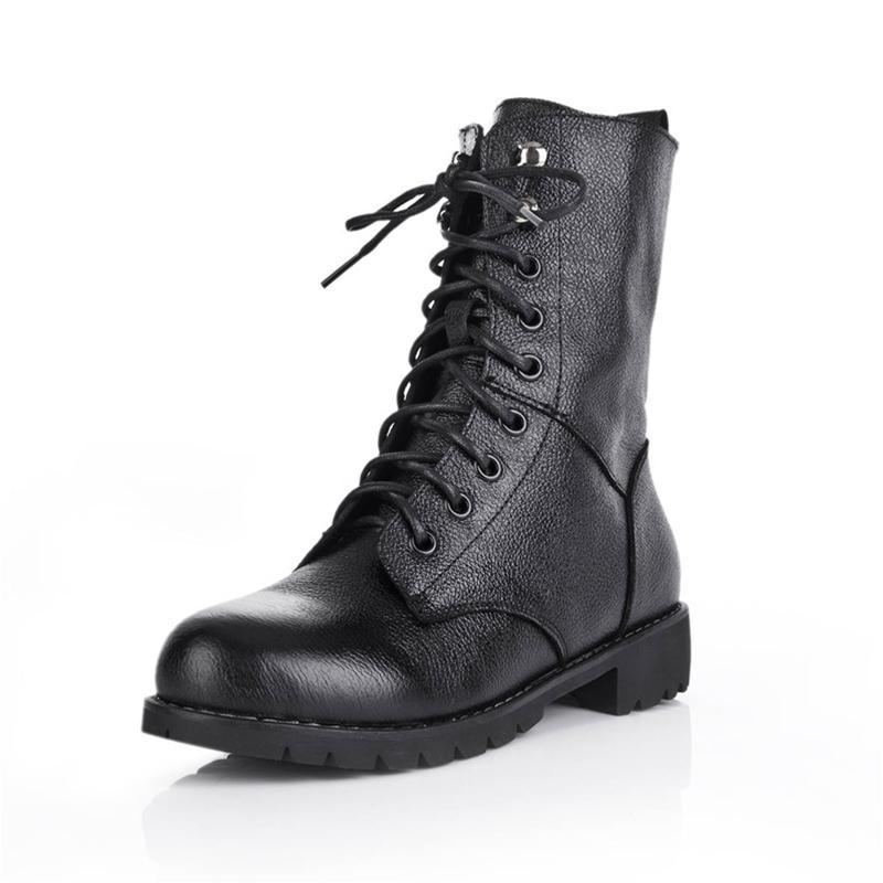 Combat boot nữ phong cách quân đội YiYa YY187-6