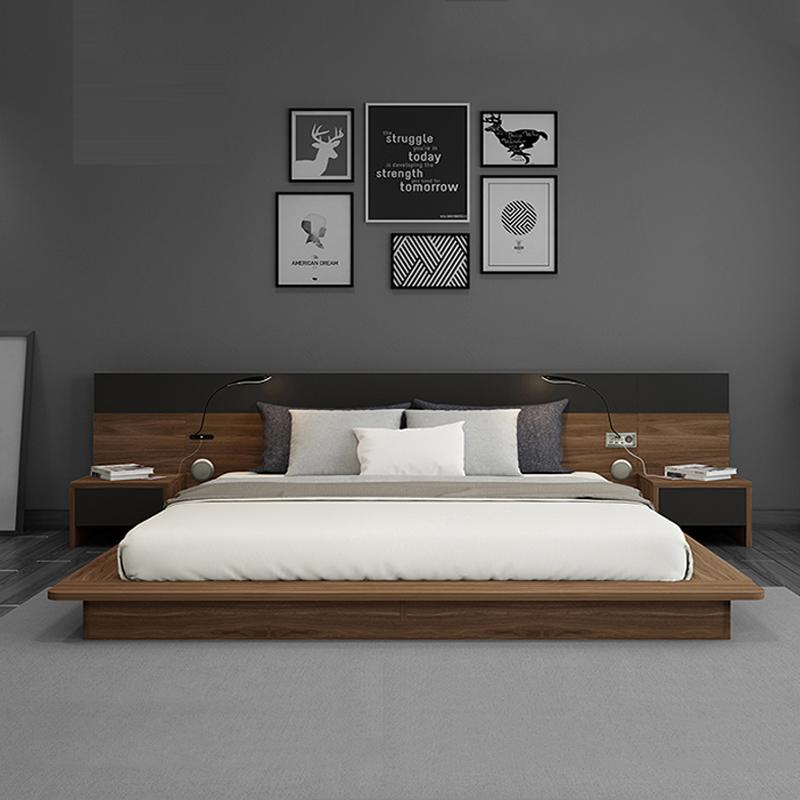 Tổ hợp giường đôi và kệ đầu giường Tatami kiểu Nhật