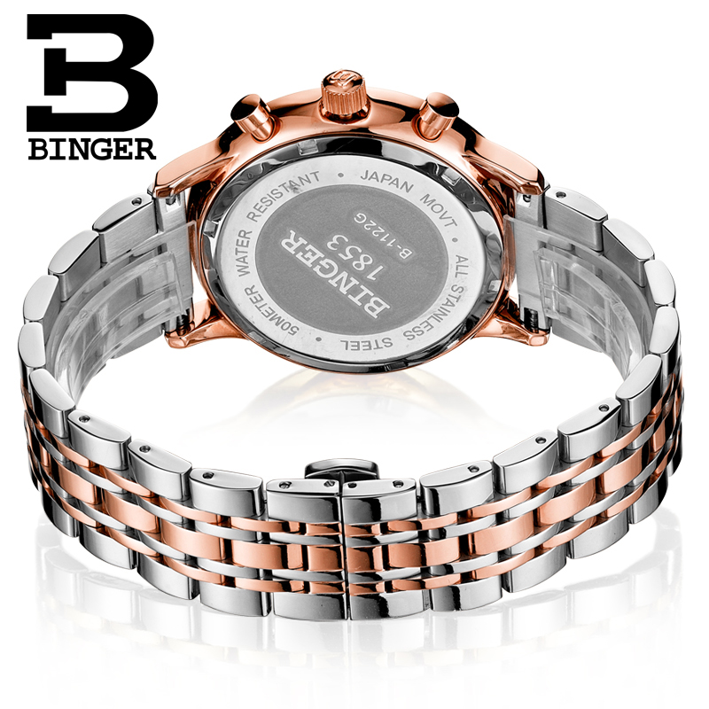 Đồng hồ nam Chronograph 5 kim cổ điển Binger