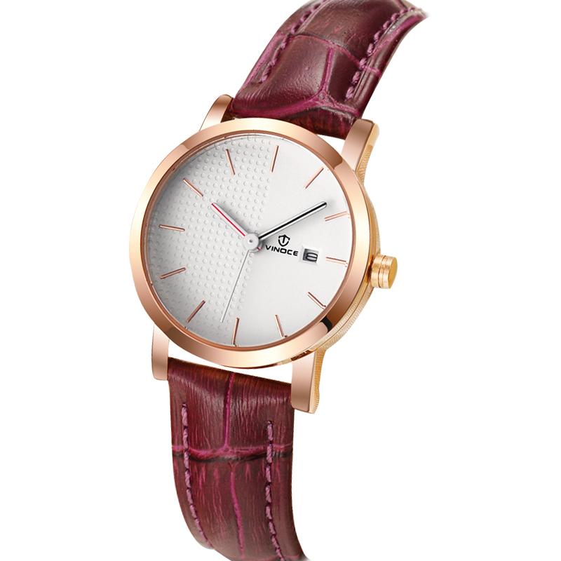 Đồng hồ nữ dây da đính đá cách điệu Vinoce