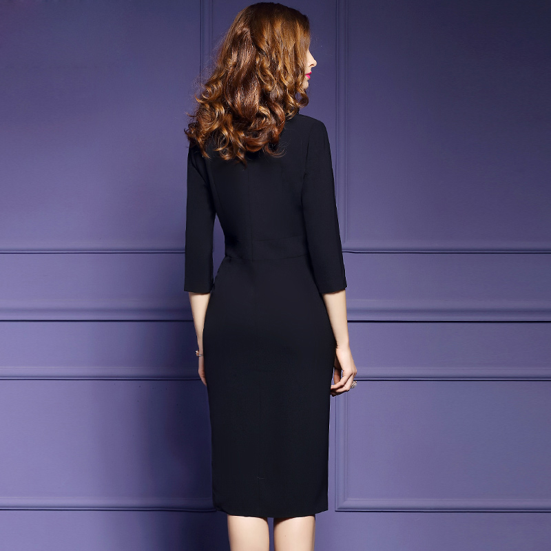 Đầm Wraparound cách tân cổ vest giả váy rời
