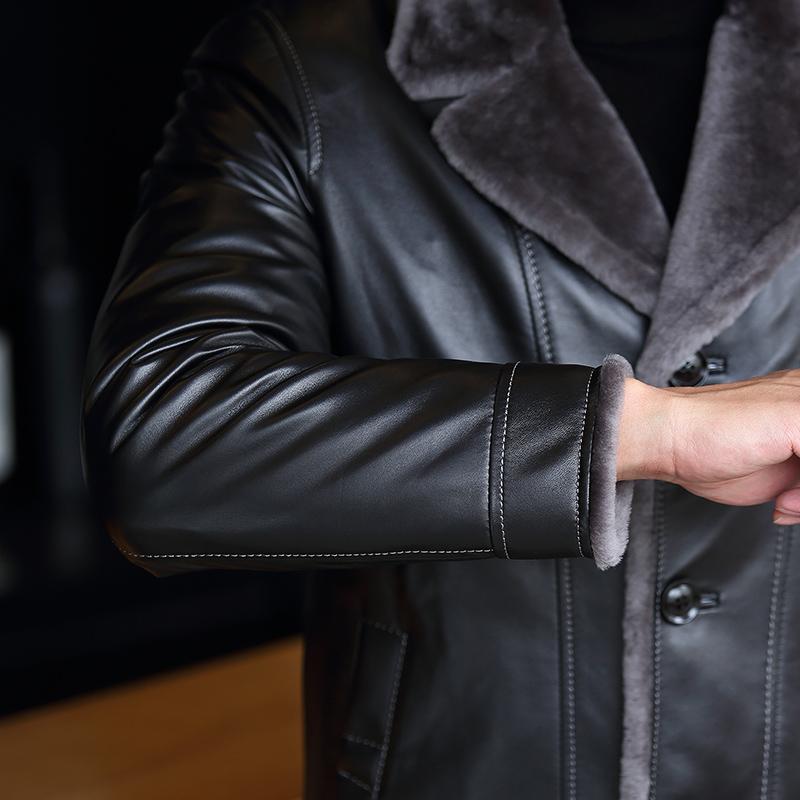 Áo khoác da cừu lót lông cừu SinBos