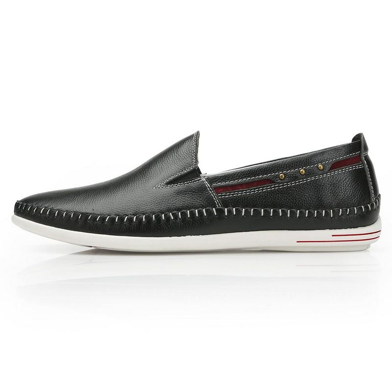 Giày Slip-on nam phối màu viền chỉ nổi Olunpo