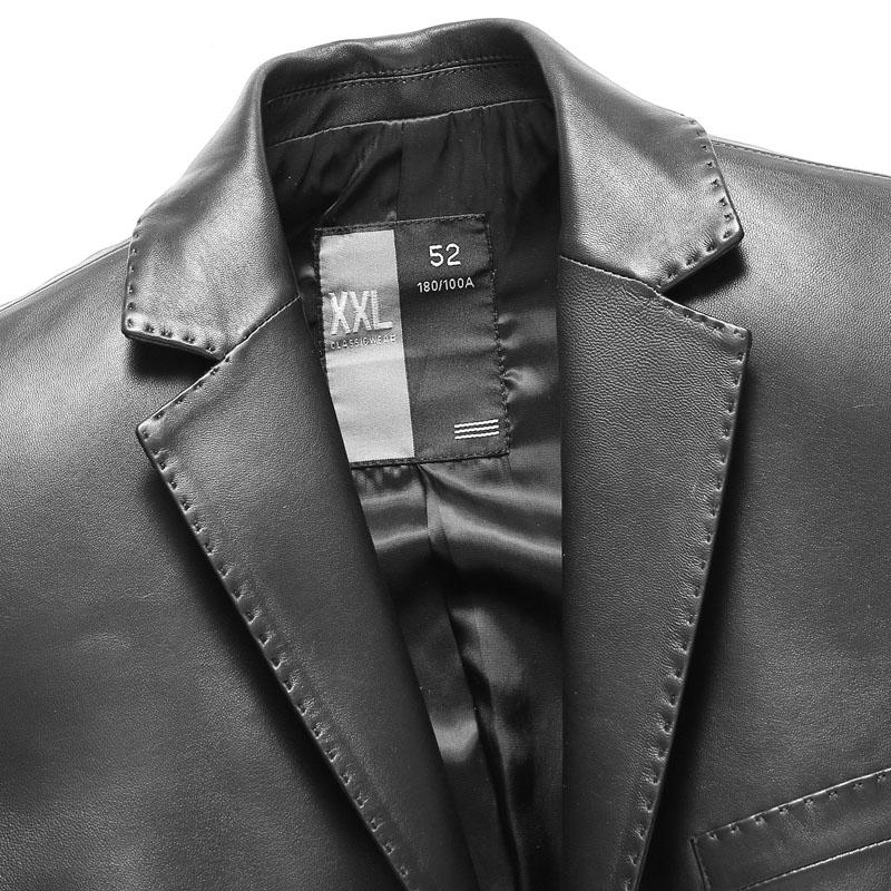 Áo khoác da cừu dáng vest 2 khuy