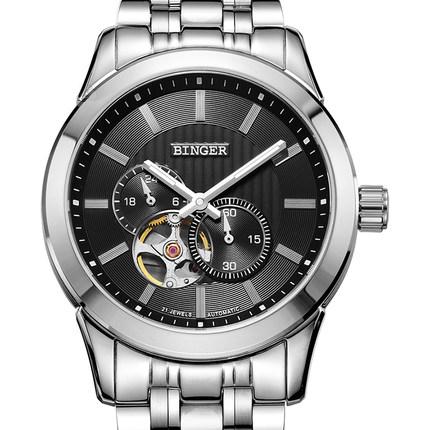 Đồng hồ Automatic Skeleton nam Binger