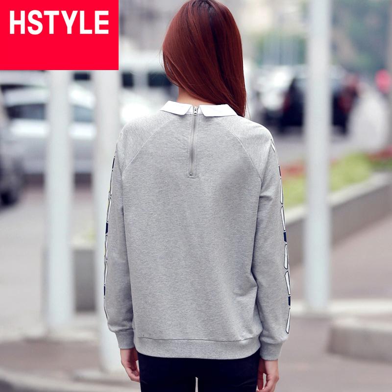 Sweater sơ mi dài tay họa tiết gothic HStyle