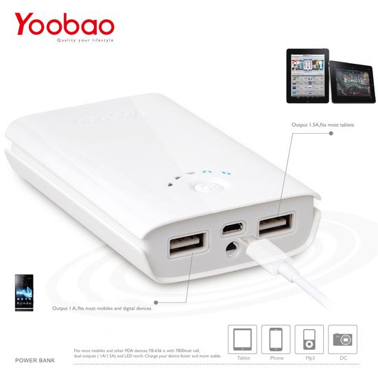 Pin dự phòng di động 7800mA Yoobao YB636