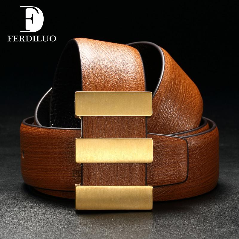 Dây lưng nam mặt đồng Ferdiluo 10014F cao cấp