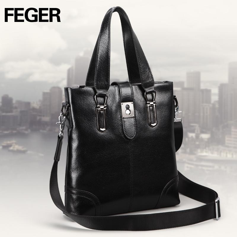 Túi da nam Feger 632-2 khóa nam châm từ tính