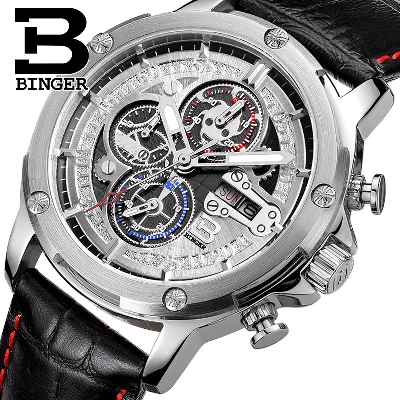 Đồng hồ Chronograph 6 kim bánh răng Binger
