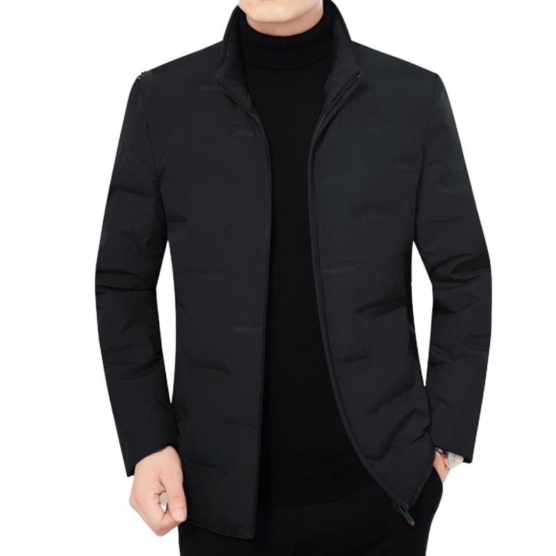 Áo phao lông vũ siêu nhẹ cao cổ khóa kéo mới