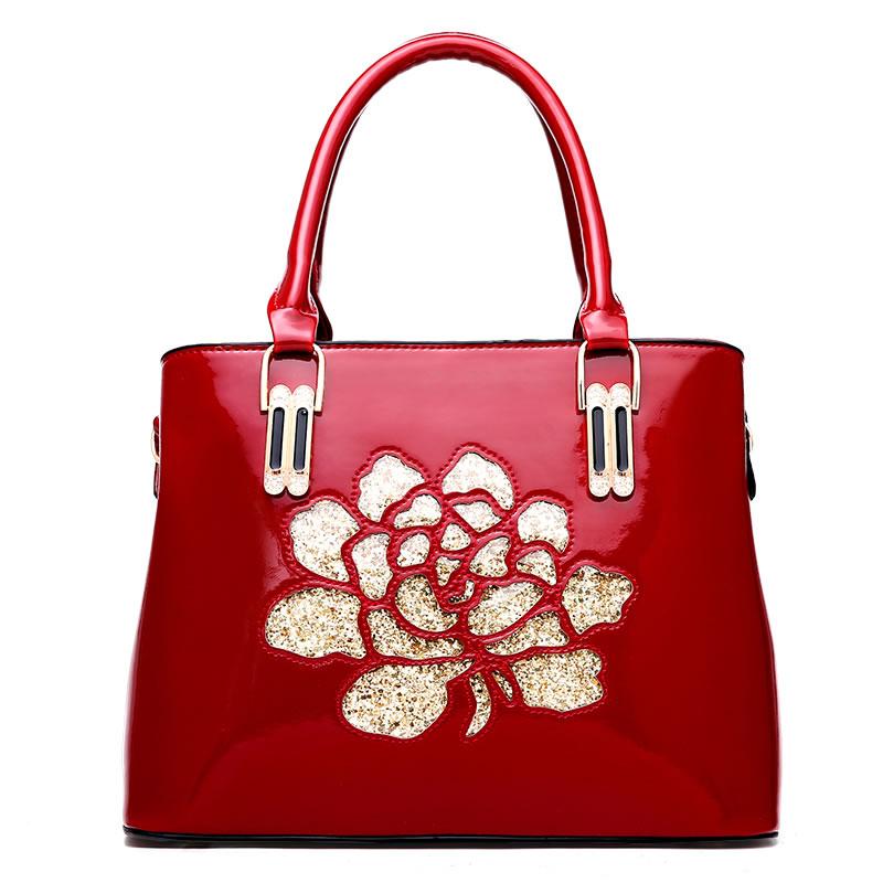 Túi nữ xách tay Handbag khắc hoa đính sequin AGR