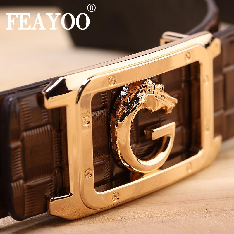 Dây lưng nam FEAYOO FY-D111 mặt chữ G hình cá ngựa