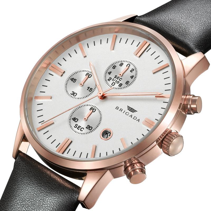 Đồng hồ nam dây da Brigada 3017 tinh xảo