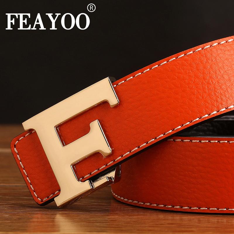 Dây lưng nam FEAYOO FY-D082 mặt khóa K dây cam
