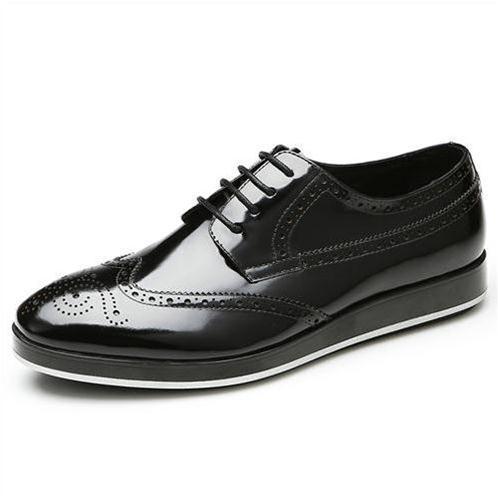 Giày da nam thời trang Olunpo QLXS1301 đế cao, dây tròn