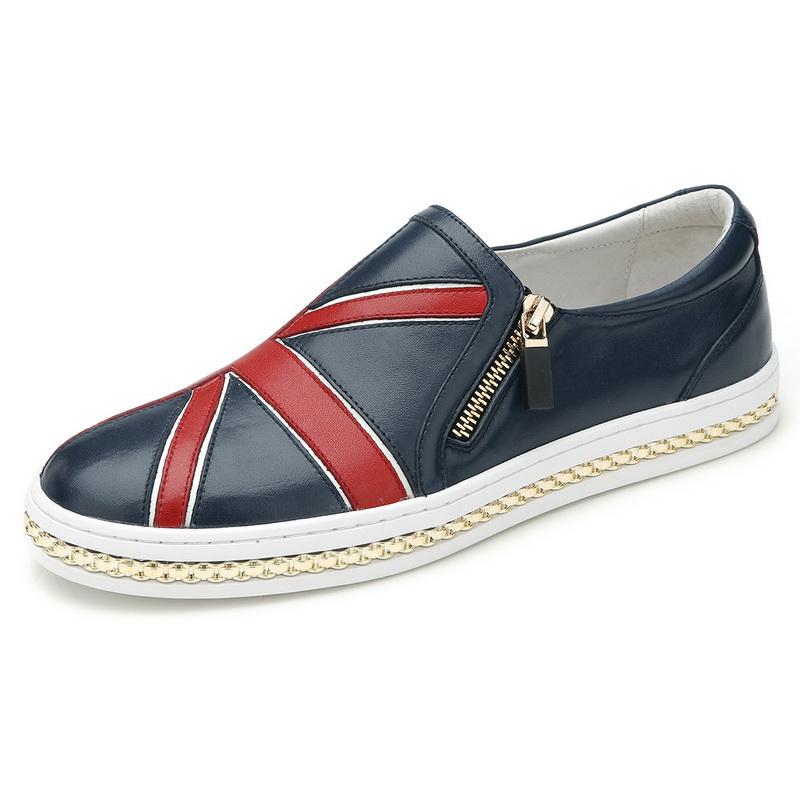 Giày lười cờ Anh phối khóa sườn Olunpo