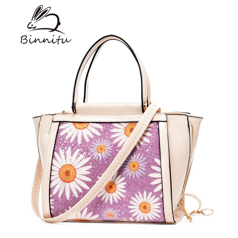 Túi xách nữ hoa hướng dương Binnitu 12253