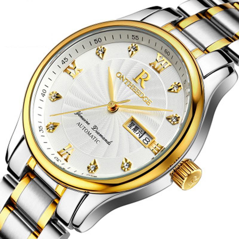 Đồng hồ CHẠY PIN cổ điển vạch chỉ giờ đính đá Ontheedge
