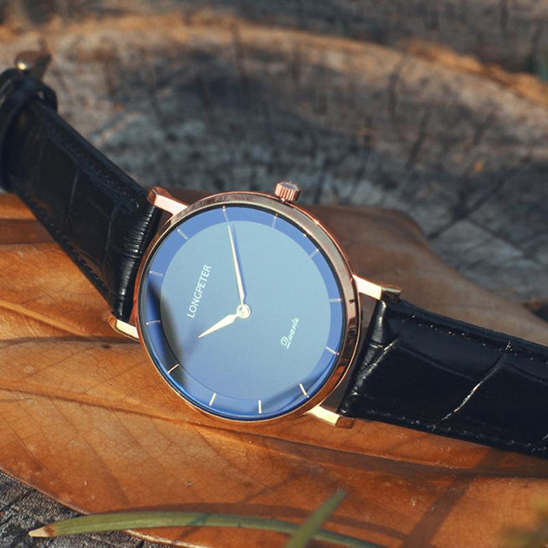 Đồng hồ nam siêu mỏng Retro Longpeter