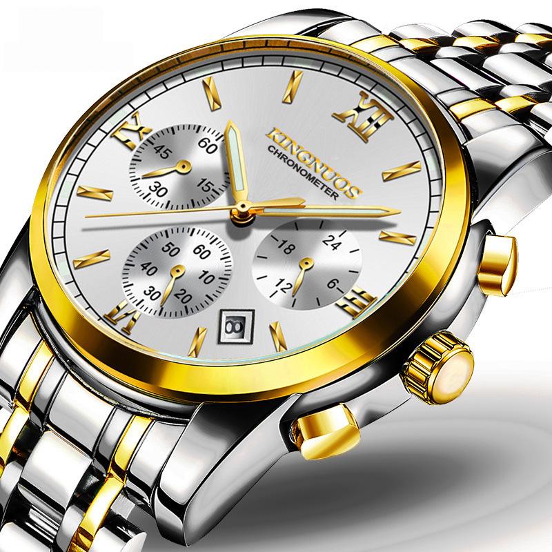 Đồng hồ dạ quang Kingnuos Chronometer 6 kim